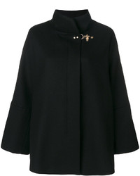 Manteau cape noir Fay