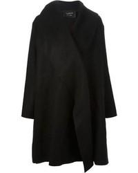 Manteau cape noir Lanvin