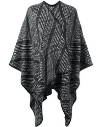 Manteau cape noir Missoni