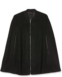 Manteau cape noir New Look