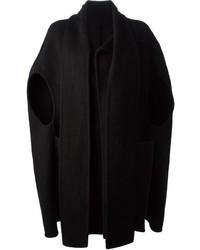 Manteau cape noir Rick Owens