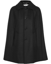 Manteau cape noir Saint Laurent