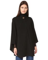 Manteau cape noir Salvatore Ferragamo
