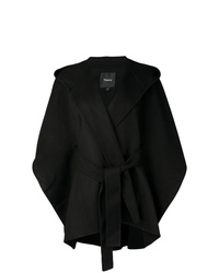 Manteau cape noir Theory