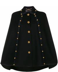 Manteau cape noir Versace