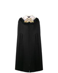Manteau cape orné noir Gucci
