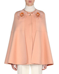 Manteau cape rose