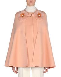 Manteau cape rose