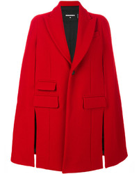 Manteau cape rouge Dsquared2