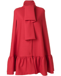 Manteau cape rouge MSGM