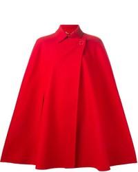 Manteau cape rouge Versace