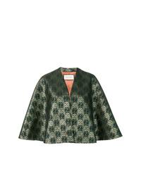 Manteau cape vert foncé Gucci