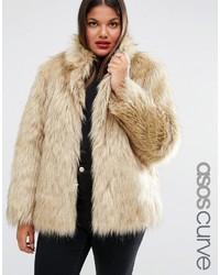 Manteau de fourrure beige Asos