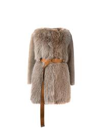 Manteau de fourrure beige Blancha