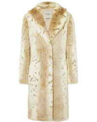 Manteau de fourrure beige Fuzz Not Fur