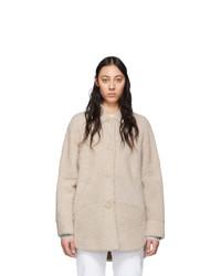 Manteau de fourrure beige Isabel Marant