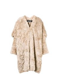Manteau de fourrure beige Junya Watanabe