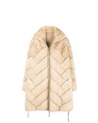 Manteau de fourrure beige Liska