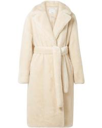 Manteau de fourrure beige Tibi