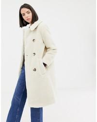 Manteau de fourrure beige Warehouse