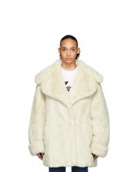 Manteau de fourrure beige We11done