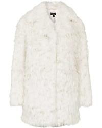 Manteau de fourrure blanc