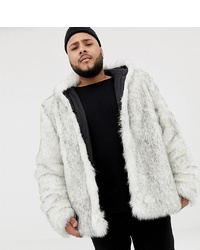 Manteau de fourrure blanc ASOS DESIGN