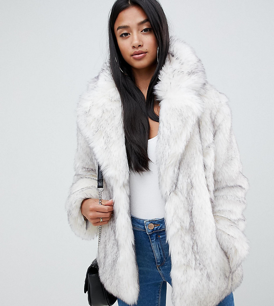 100% authentique style à la mode profiter du meilleur prix Manteau de fourrure blanc Asos Petite