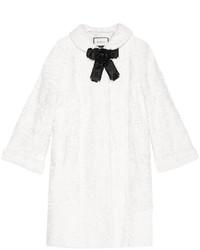Manteau de fourrure blanc Gucci