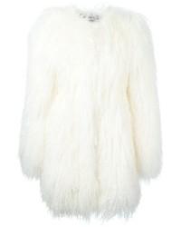Manteau de fourrure blanc Philipp Plein