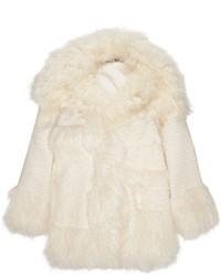 Manteau de fourrure blanc Stella McCartney