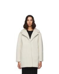 Manteau de fourrure blanc Yves Salomon Meteo