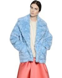 Manteau de fourrure bleu clair