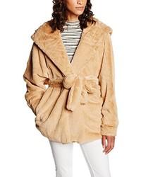 Manteau de fourrure brun clair