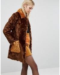 Manteau de fourrure brun Asos