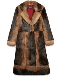 Manteau de fourrure brun Gucci
