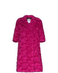 Manteau de fourrure fuchsia Moschino