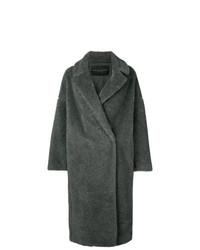 Manteau de fourrure gris foncé Fabiana Filippi