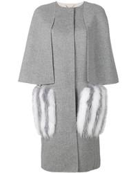 Manteau de fourrure gris Fendi