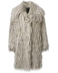 Manteau de fourrure gris Lanvin