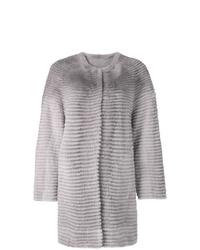 Manteau de fourrure gris Liska