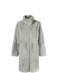 Manteau de fourrure gris Yves Salomon