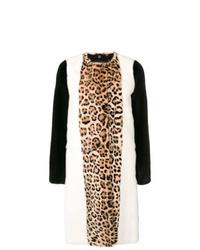Manteau de fourrure imprimé léopard multicolore Giambattista Valli