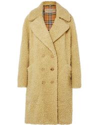 Manteau de fourrure jaune Burberry