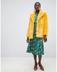 Manteau de fourrure jaune Vero Moda