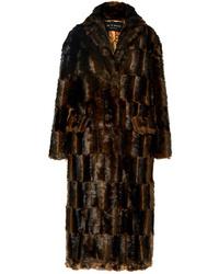 Manteau de fourrure marron foncé Etro