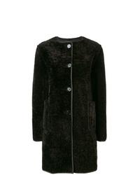 Manteau de fourrure marron foncé Marni