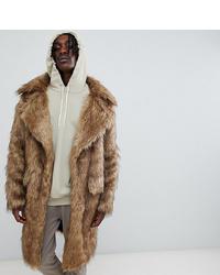 Manteau de fourrure marron