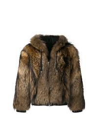Manteau de fourrure marron Balmain