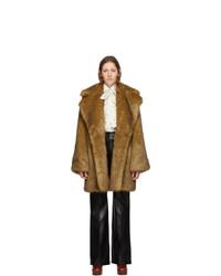Manteau de fourrure marron Gucci